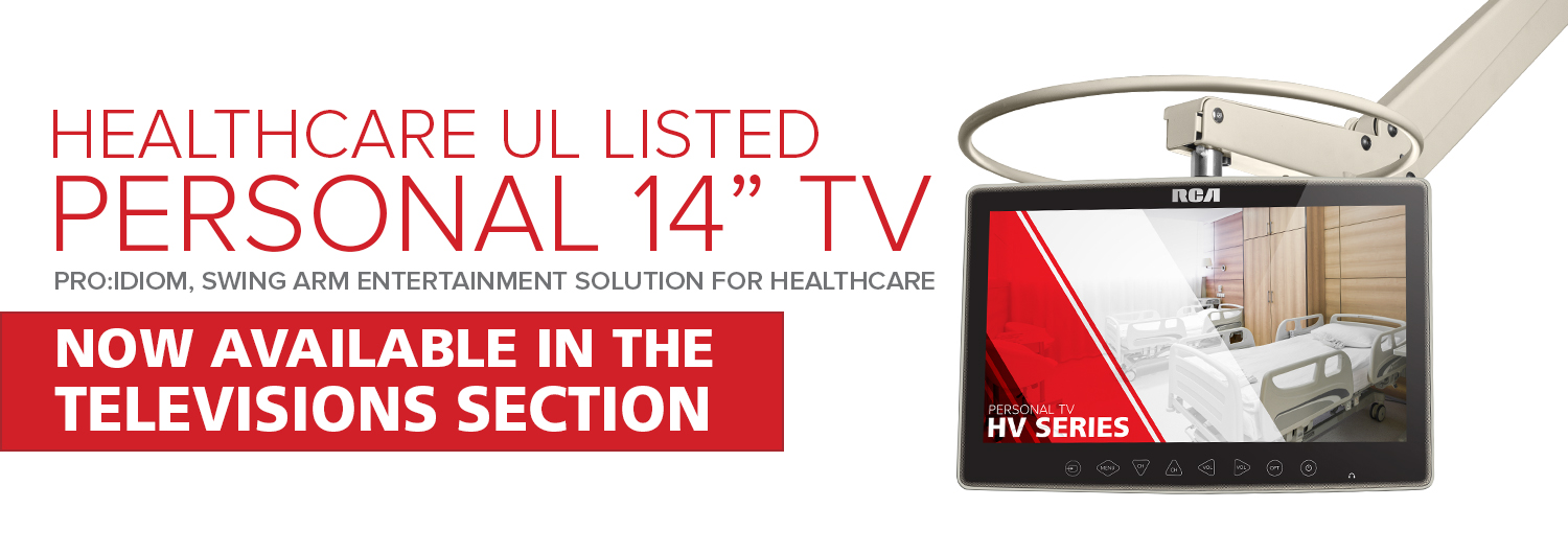Healthcare UL Listed 14″ Personal TV